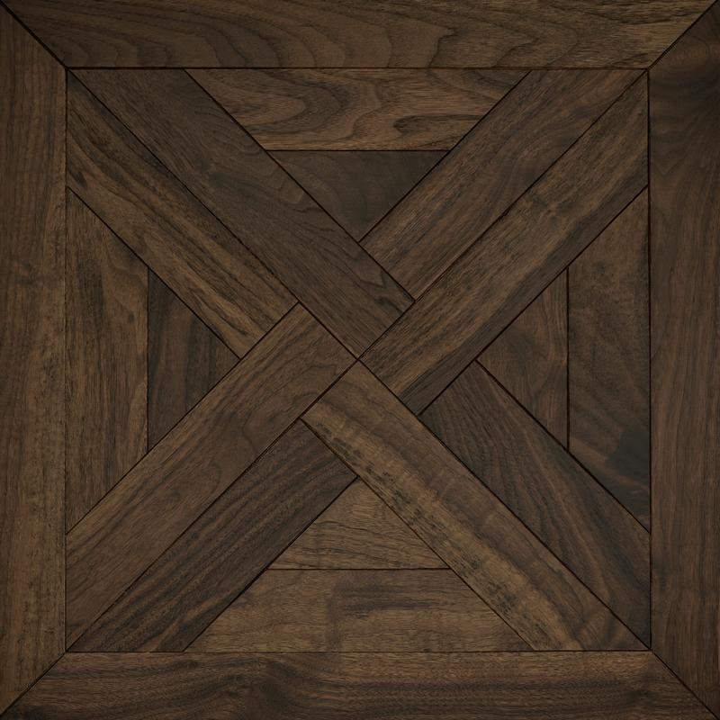 Classic American walnut trianon mosaic timber floor