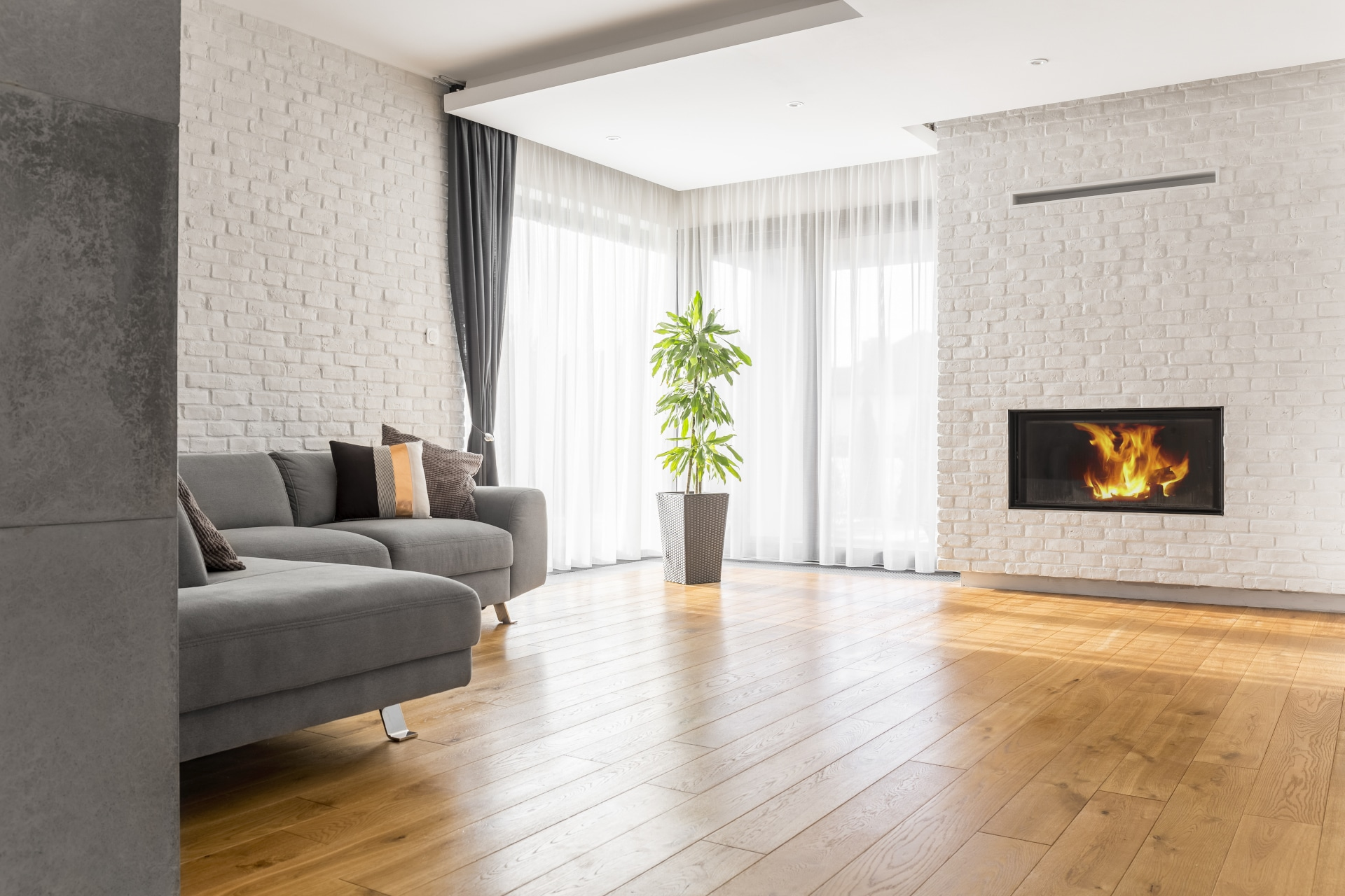 living room with wood flooring PU62LS7